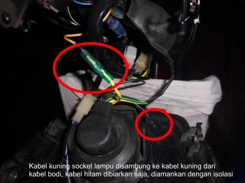 kabel kuning dan kabel hitam